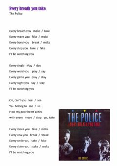 Interactive worksheet Song - Every breath you take