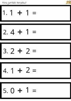 Interactive worksheet Math : Penambahan