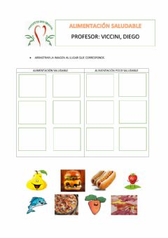 Interactive worksheet Alimentación saludable
