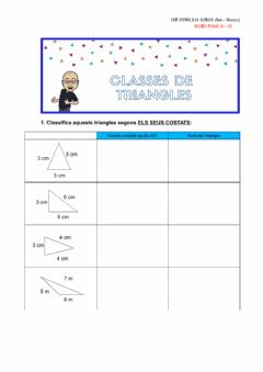 Interactive worksheet Classes de triangles