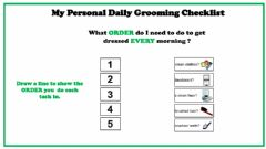 Interactive worksheet Daily Grooming Check list