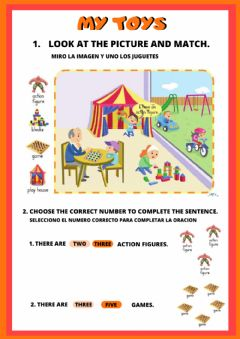 Interactive worksheet Toys Revision