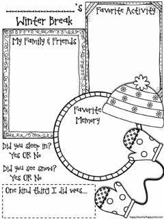 Interactive worksheet Write about your winter break