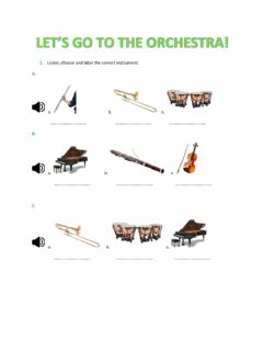 Interactive worksheet Let's go to the orchestra!