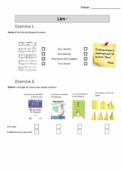 Interactive worksheet Lire