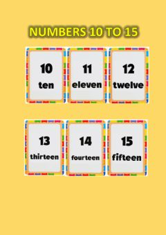 Interactive worksheet Numbers 10 to 15