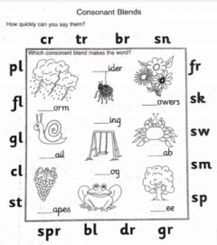 Ficha interactiva Consonant blends
