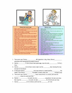 Ficha interactiva Used to - reading