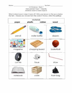 Interactive worksheet Materials 2