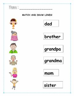 Interactive worksheet Match and draw lines.