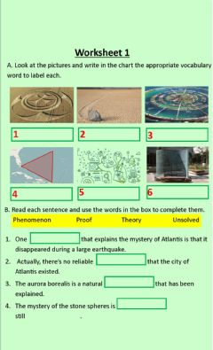 Interactive worksheet Mysteries' Vocabulary