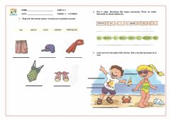 Interactive worksheet The clothes Exercise
