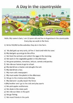 Interactive worksheet Life in the countryside