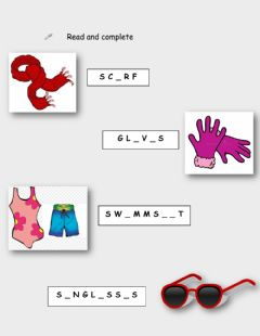 Interactive worksheet The clohes