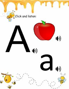 Interactive worksheet Lesson Letter A