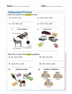 Interactive worksheet Compare Numbers