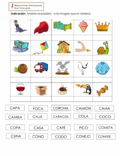 Interactive worksheet Fonema C