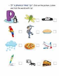 Interactive worksheet It-s phonics time! -p- sound