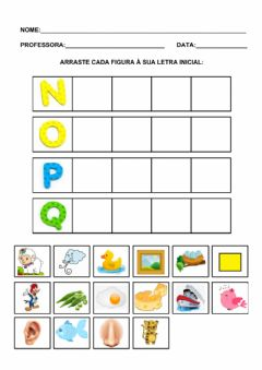Interactive worksheet Letras iniciais