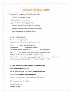 Interactive worksheet Rolling in the Deep