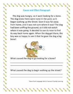 Interactive worksheet Cause and Effect Paragraph