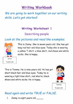 Ficha interactiva Writing Worksheet 1