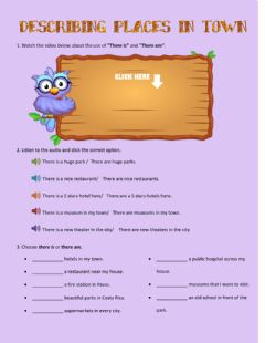 Interactive worksheet There is, there are