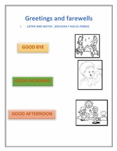 Interactive worksheet Greetings, farewells- people at school