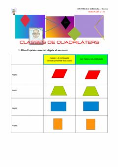 Interactive worksheet Classes de quadrilàters