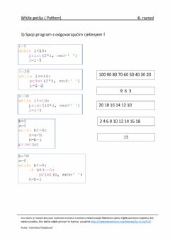 Interactive worksheet While petlja (Python)-6.r