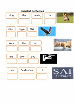 Interactive worksheet Jumbled Sentences