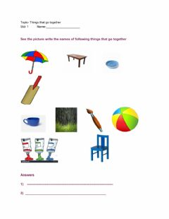Interactive worksheet Things that go together