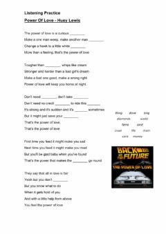 Interactive worksheet The power of love