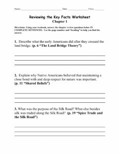 Interactive worksheet Ch. 01 Reviewing the Key Facts
