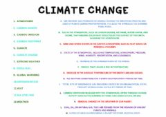 Ficha interactiva Climate Change Vocabulary