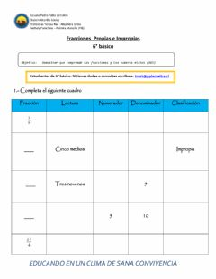 Interactive worksheet Fracciones y números mixtos