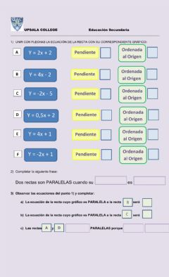 Interactive worksheet Rectas paralelas