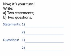 Interactive worksheet To Be Verb - Statements and Questions