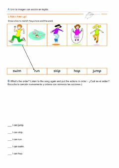 Interactive worksheet Listen and match