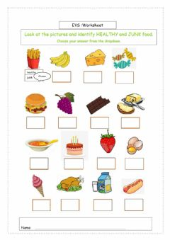 Interactive worksheet Healthy N Junk FOOD