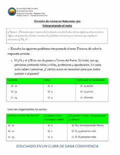 Interactive worksheet Divisiones 3