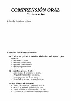 Interactive worksheet Comprensión oral