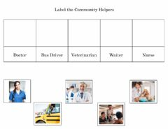 Interactive worksheet Community Helpers - Label