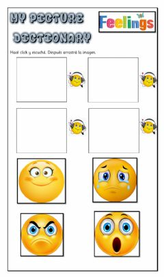 Interactive worksheet Picture Dictionary-FEELINGS-K4
