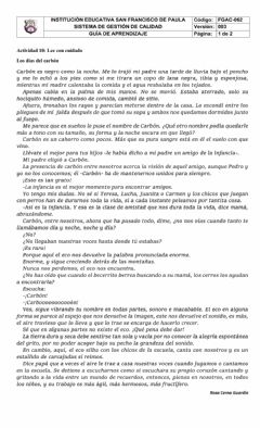 Interactive worksheet Comprensión de lectura