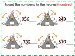 Interactive worksheet Rounding to the nearest hundred