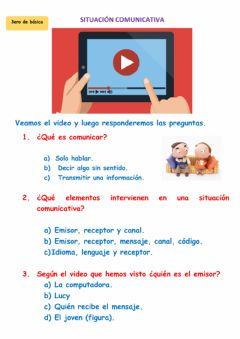 Interactive worksheet Situación comunicativa