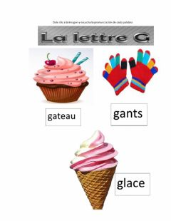 Interactive worksheet Lettre g.h