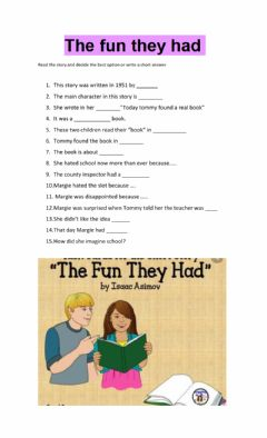 Interactive worksheet The fun they had