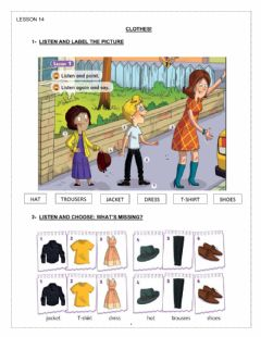 Interactive worksheet Clothes!